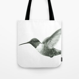 Ruby-Throated Hummingbird Drawing Tote Bag