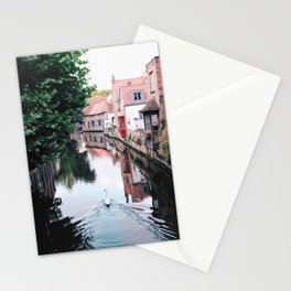 Swan in Belgium Stationery Cards