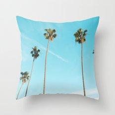 Palm Tree Sunshine Throw Pillow