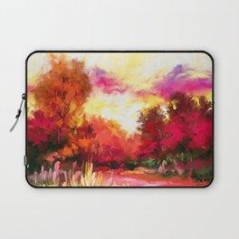 Autumnal sunset Laptop Sleeve