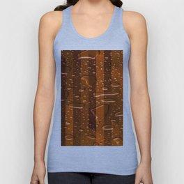 Wet Stripes,orange Unisex Tank Top