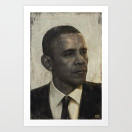 """Golden Age"" - Portrait of President Barack Obama Art Print"