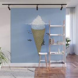 Ice Cream and Whale Wall Mural