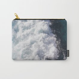 sea - midnight blue wave Carry-All Pouch