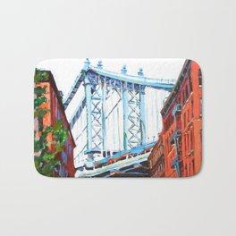 Manhattan Bridge, View From Dumbo Brooklyn Bath Mat