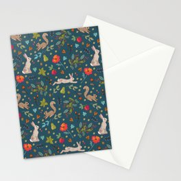 Orchard Friends on Dark Stationery Cards