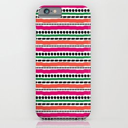 Lines and Dots 1 iPhone Case