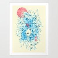 ariel Art Prints featuring Ariel by Steven Toang