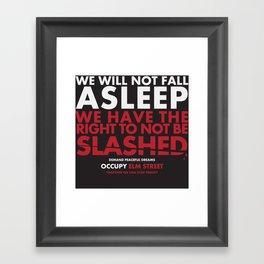 occupy elmstreet Framed Art Print