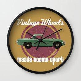 Vintage Wheels: Mazda Cosmo Sport Wall Clock