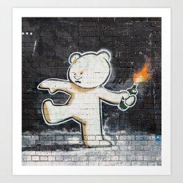 Banksy's Big Bad Bear Art Print
