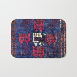 Baluch Khorasan Northeast Persian Bag Face Print With Birds Bath Mat