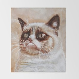 Grumpycat Throw Blanket