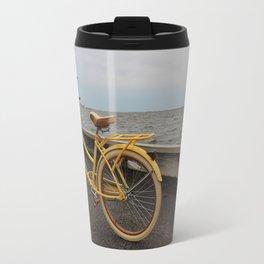 Yellow Beach Bike Travel Mug