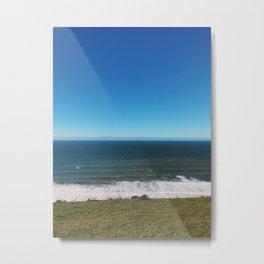Hiking by the Seaside Metal Print