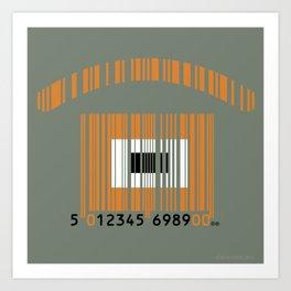 códiojo de barras Art Print