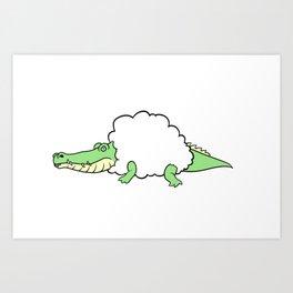 Sheepodile Art Print