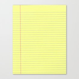 Yellow Legal Pad Canvas Print