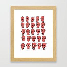 Zak moods Framed Art Print