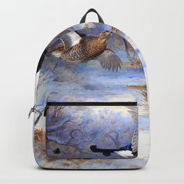 Archibald Thorburn - Blackcock and Grouse in flight - Winter - Digital Remastered Edition Backpack