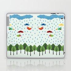 Birds in the rain. Laptop & iPad Skin