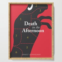 Ernest Hemingway book cover & Poster, Death in the Afternoon, bullfighting stories Serving Tray