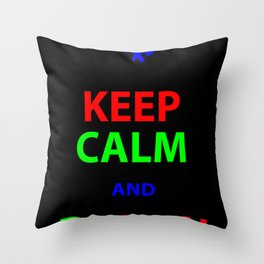 Keep Calm and Design Throw Pillow