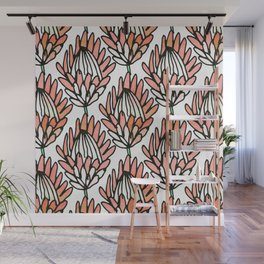 Protea Orange #homedecor Wall Mural