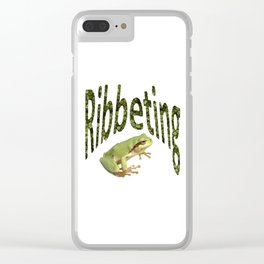 Ribbeting Frog Clear iPhone Case