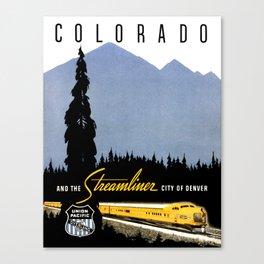 Union Pacific Train poster 1936 - Retouched Version Canvas Print