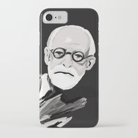 freud iPhone & iPod Cases featuring Freud  by BJD124