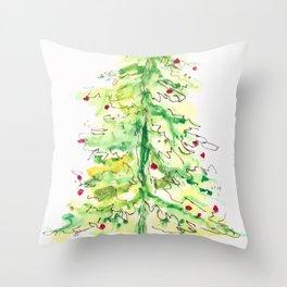 Fa La La La Tree Throw Pillow