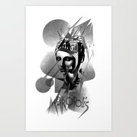 metropolis Art Prints featuring METROPOLIS by DIVIDUS