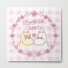 Moomin Love Pink Metal Print