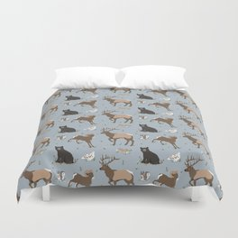 Rocky Mountain Critters Duvet Cover
