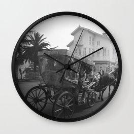 Horse & Carriage, Princes Island, Istanbul Turkey, Art Photography Print  Wall Clock