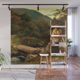 Classical Masterpiece The Footstep by Arthur Hughes Wall Mural