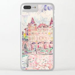 """Paul Signac """"Vue de Montauban sous la pluie (View of Montauban in the rain)"""" Clear iPhone Case"""