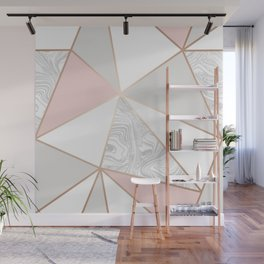 rose gold gray marble Wall Mural