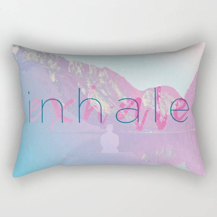 Inhale / Exhale Rectangular Pillow