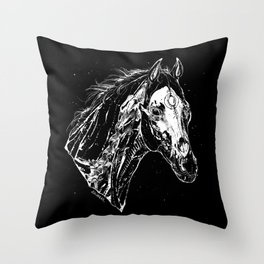 The ghost of horse born  a dog Throw Pillow
