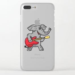 Guitar elephant Clear iPhone Case