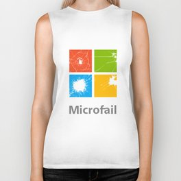 Microfail - What do you want to break today? Biker Tank