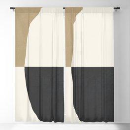 abstract minimal 29 Blackout Curtain