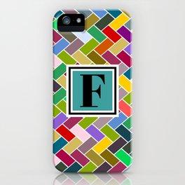 F Monogram iPhone Case