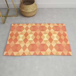 Triangles in Shades of Orange Rug