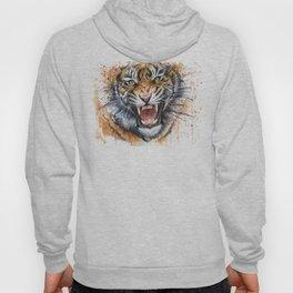 Tiger Watercolor Animal Painting Hoody