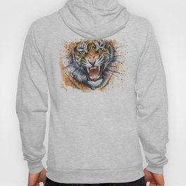 Tiger Watercolor Animal Painting Hoody