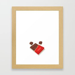 I Could Give Up Chocolate But I'm Not a Quitter T-Shirt Framed Art Print