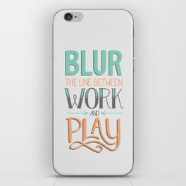 Work and Play iPhone Skin